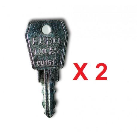 Jeu de 2 clés de rechange pour distributeur de gants