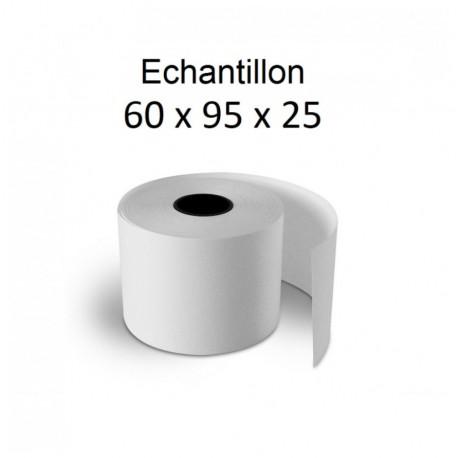 60x95x25 - Rouleau échantillon pour caisse thermique - sans Bisphénol A