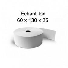 60x130x25 - Rouleau échantillon pour caisse thermique et DAC - sans Bisphénol A