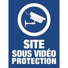 """Pictogramme """"Site sous vidéo Protection"""" BLEU"""